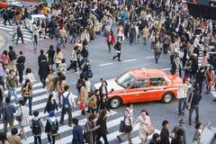 Shibuya横穿 免版税图库摄影