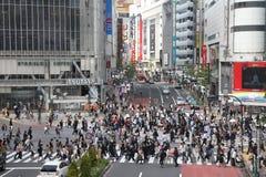Shibuya Überfahrt stockfotografie