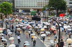 Shibuya Überfahrt Stockbild