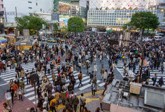 Shibuya-Überfahrt lizenzfreie stockbilder
