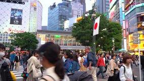 Shibuya-Überfahrt in der Tageszeit (4K UHD) stock video