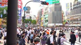 Shibuya-Überfahrt in der Tageszeit (4K UHD) stock footage