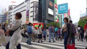 Shibuya-Überfahrt in der Tageszeit (4K UHD) stock video footage