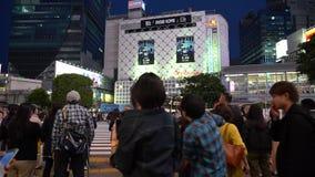 Shibuya-Überfahrt im Tageszeitzeitversehen stock video