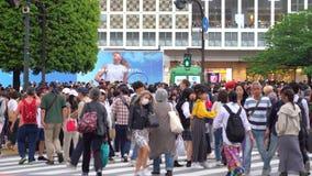 Shibuya-Überfahrt im Zeitversehen der Tageszeit 4K UHD stock video footage