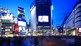 Shibuya-Überfahrt, Tokyo, Japan stock video