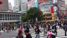 Shibuya-Überfahrt in Tokyo, Japan stock footage