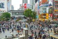 Shibuya που διασχίζει το Τόκιο Στοκ εικόνα με δικαίωμα ελεύθερης χρήσης