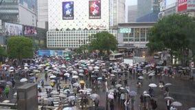 Shibuya-?berfahrt ist einer der besch?ftigtsten Zebrastreifen in der Welt stock video