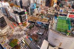 Shibuya Überfahrt, Tokyo, Japan Stockbilder