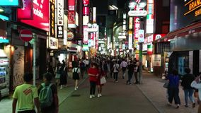 Shibuya - a busy and popular district in Tokyo - TOKYO / JAPAN - JUNE 12, 2018. Shibuya - a busy and popular district in Tokyo - TOKYO - JUNE 12, 2018 stock footage