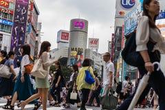 Shibuya croisant au cours de la journée Les gens Orientation d'horizontal images stock
