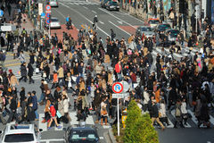 Shibuya croisant Tokyo Japon Images stock