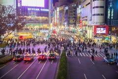 Shibuya cross at night Royalty Free Stock Image
