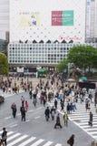 Shibuya Crossing Royaltyfri Fotografi