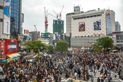 Shibuya Crossing aerial Royalty Free Stock Photos