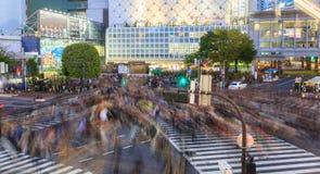 Shibuya crossing at night tokyo japan Stock Photography
