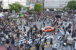 Shibuya Crossing Royalty Free Stock Photos
