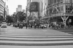 Shibuya crossing,Tokyo.Black & white photography Royalty Free Stock Image