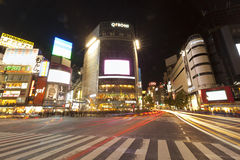 Shibuya Crossing,TOKYO - JANUARY. Stock Photo