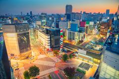 Shibuya crossing in Tokyo, Japan. Royalty Free Stock Images