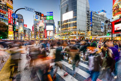 Shibuya Crossing in Tokyo Stock Photos