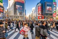 Shibuya Crossing, Tokyo, Japan stock photography