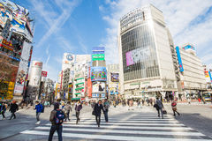 Shibuya crossing in Tokyo Royalty Free Stock Images
