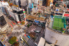 Shibuya Crossing, Tokyo, Japan. Stock Images