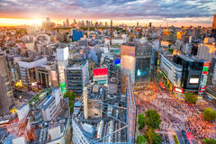 Shibuya Crossing from top view in Tokyo stock photos