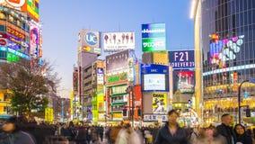 Shibuya, das Timelapse in Tokyo-Stadt, Japan, Zeitspanne 4K kreuzt stock video footage