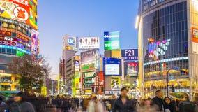 Shibuya, das Timelapse in Tokyo-Stadt, Japan, Zeitspanne kreuzt stock video footage