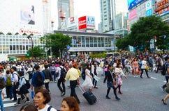 Shibuya, das Tokyo Japan kreuzt Stockfoto