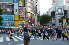 Shibuya, das Tokyo Japan kreuzt Stockbilder