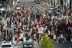 Shibuya die Tokyo Japan kruisen Stock Afbeeldingen