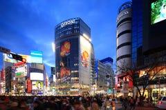 Shibuya die, Tokyo, Japan kruisen Stock Afbeelding