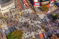 Shibuya die, Tokyo, Japan kruist stock afbeelding