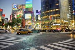 Shibuya die, Tokyo kruisen Royalty-vrije Stock Foto's