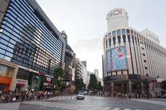 Shibuya district in Tokyo, Japan Stock Photos