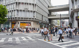 Shibuya district in Tokyo, Japan Royalty Free Stock Photos