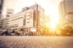 Shibuya district, Tokyo. People walking on the street Royalty Free Stock Photo