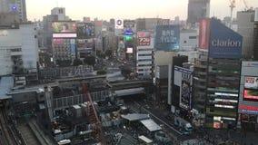 Shibuya en Tokio Japón almacen de metraje de vídeo