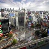 shibuya fyrkantiga tokyo Arkivfoto