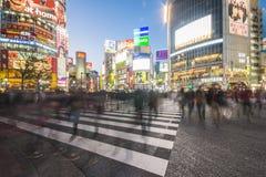 SHIBUYA, JAPAN - FEBRUARI 19, 2016: Shibuya groot zebrapad in Ja Stock Afbeelding