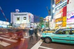 SHIBUYA, JAPON - 19 FÉVRIER 2016 : parc vert de taxi du Japon sur t image stock