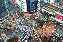Shibuya korsning Fotografering för Bildbyråer