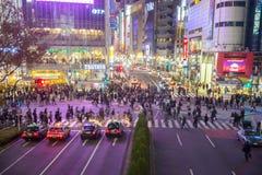 Shibuya korsning natt Royaltyfria Foton