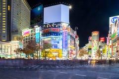 Shibuya korsning natt Royaltyfri Bild