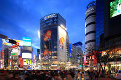 Shibuya korsning, Tokyo, Japan Fotografering för Bildbyråer