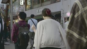 Shibuya område på natten stock video